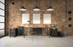 bureau à style industriel